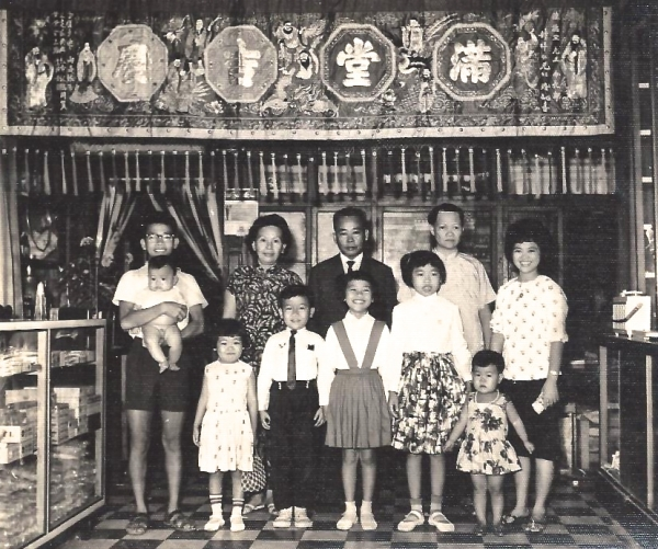 Hoang Taing as a young girl in Cambodia with her family.